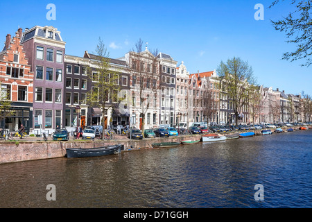Amsterdam, Prinsengracht, North Holland, Netherlands - Stock Photo