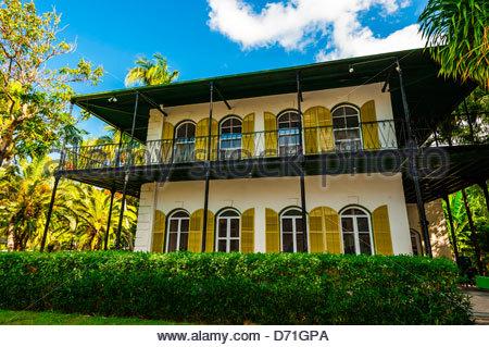 Hemingway House (Ernest Hemingway Home & Museum), Key West, Florida Keys, Florida USA - Stock Photo