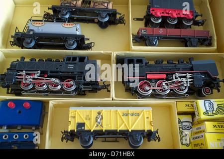Marklin toy train set - Stock Photo