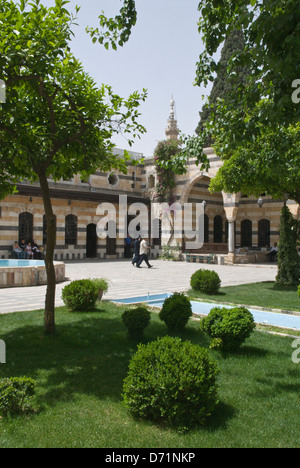 Courtyard of the 18th Century Ottoman architecture of the ...
