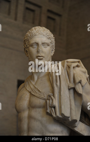 Greek art. Diomedes. Roman sculpture after original of about 430 BC. Glyptothek. Munich. Germany. - Stock Photo
