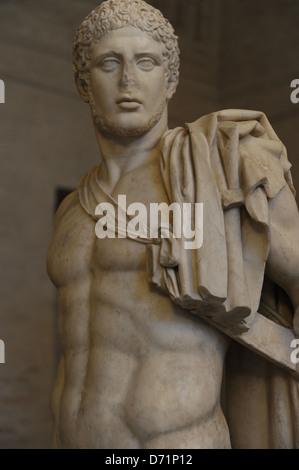 Greek art. Diomedes. Roman sculpture after original of about 430 BC. Glyptothek. Munich. Germany. - Stock Photo