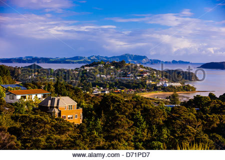 Paihia, Bay of Islands, Northland, on the north island of New Zealand. - Stock Photo