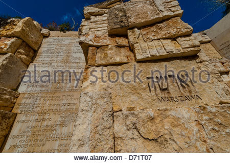 The Valley of Communities, Yad Vashem, the Holocaust Martyrs' and Heroes' Remembrance Authority, Jerusalem, Israel. - Stock Photo