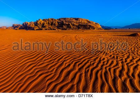 Arabian Desert at Wadi Rum, Jordan. - Stock Photo