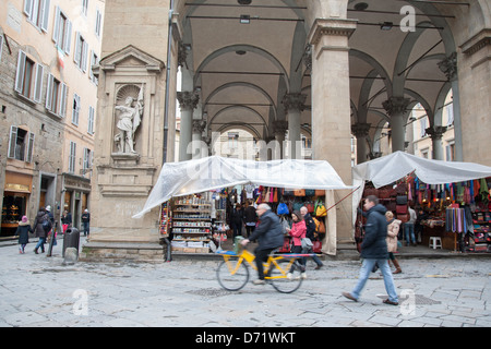 Mercato Nuovo - New Market, Florence; Italy - Stock Photo