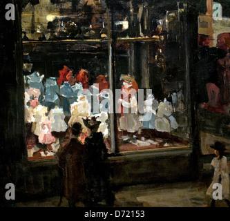 Shop Window 1894  Isaac Israels 1865 - 1934  Dutch Netherlands - Stock Photo