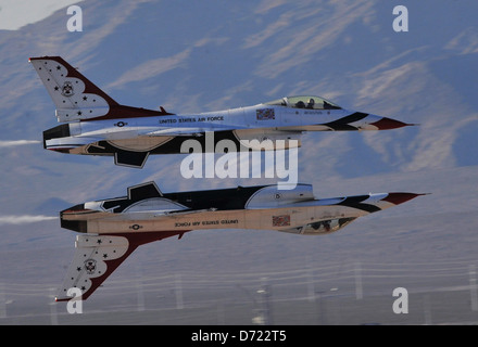 United States Air Force Air Demonstration Squadron Thunderbirds - Stock Photo