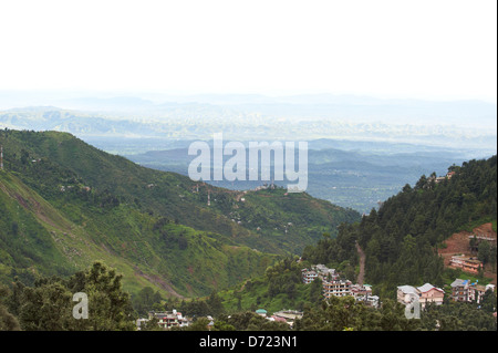View of the valley from upper Dharamsala - Stock Photo