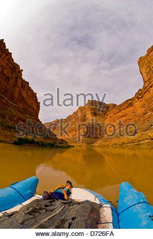 Cove Canyon, Colorado River, Glen Canyon National Recreation Area, Utah USA - Stock Photo