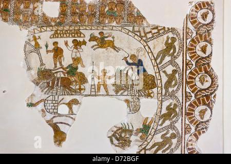 Mosaic in Bardo National Museum, Tunis, Tunisia - Stock Photo