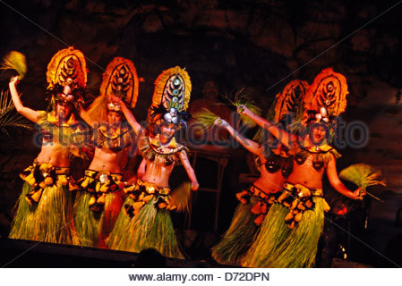Drums of the Pacific Luau, Hyatt Regency Maui, Kaanapali Beach Resort, Maui, Hawaii USA - Stock Photo