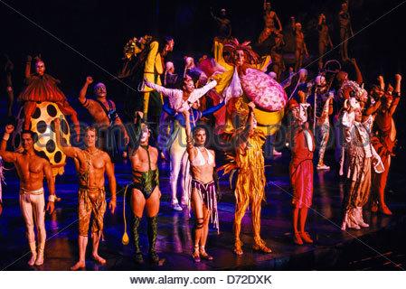 Mystere by Cirque du Soleil, Treasure Island Hotel and Casino, Las Vegas, Nevada USA - Stock Photo