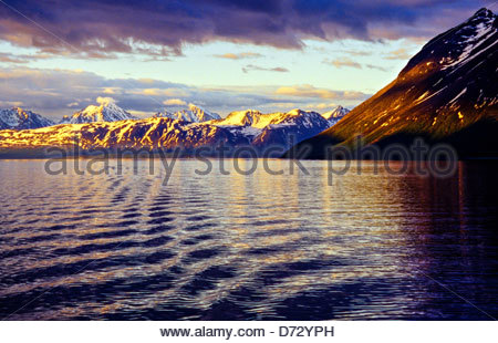 On board M/S Nordlys hurtigruten (coastal steamer), North of Tromso, Arctic, Northern Norway - Stock Photo