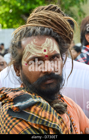 Indian baba during festival - Stock Photo