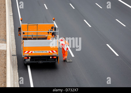 Koeln, Germany, Cologne 'ring road, a highway construction site is broken - Stock Photo