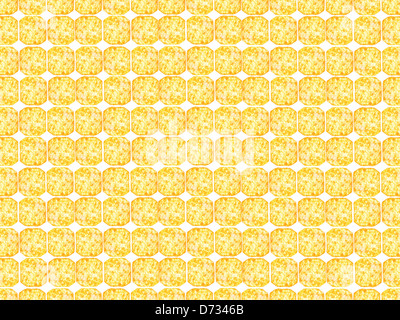 Cheese crackers isolated against a white background - Stock Photo