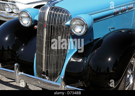 A vintage and refurbished classic Oldsmobile. On display at the Run to the Sun car show in Myrtle Beach, SC, March - Stock Photo