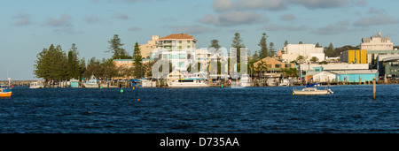 The Town Of  Port Macquarie is a coastal town located on the central coast of New South Wales Australia. - Stock Photo