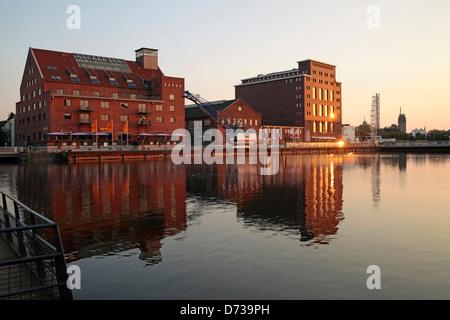 Innenhafen Duisburg mit Werhahnmuehle, Nordrhein-Westfalen, Deutschland, Europa | - Stock Photo