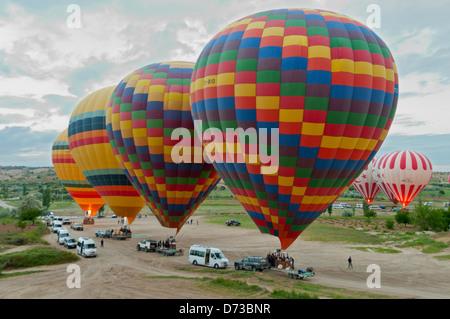 Hot Air Balloons Taking Off, Cappodocia, Nevsehir, Turkey