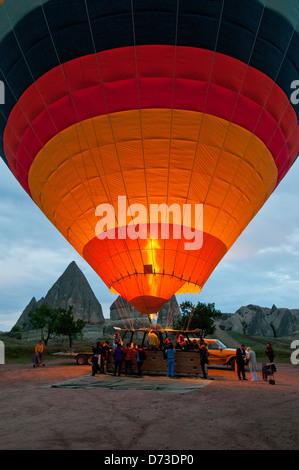 Hot Air Balloon Taking Off, Cappodocia, Nevsehir, Turkey