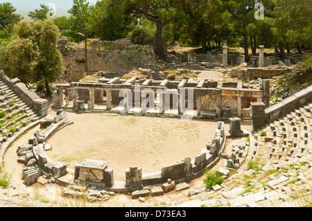 Theatre at Priene, Aydin, Turkey - Stock Photo