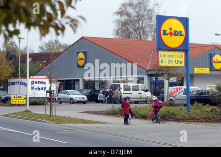 Flensburg, Germany, Lidl market in the Frisian Stra √ üe in Flensburg - Stock Photo