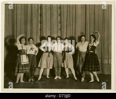 Y.M. & Y.W.H.A., young women in costume, circa 1930 - Stock Photo