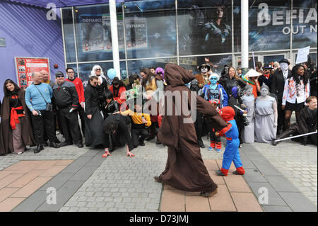 Cosplay cosplayers dressing up Stratford, London, UK. 28th April 2013. Characters at the costume parade. The Sci - Stock Photo
