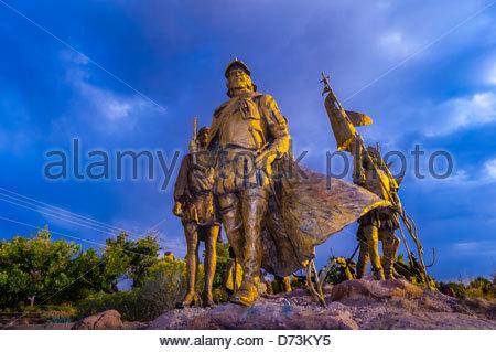 The 'Cuarto Centenario' sculpture, Albuquerque Museum, Albuquerque, New Mexico USA. Four hundred years ago, in April - Stock Photo