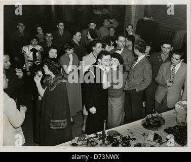 Chanukah religious service and party, held at the Baltimore 'Y' - Stock Photo