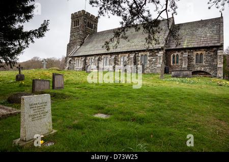 Arthur Ransome's grave at St Paul's Church, Rusland, near Hawkshead, Lake District, Cumbria - Stock Photo