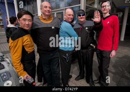 Stratford, London, UK, 28 April 2013.  Participants in the annual SCI-Fi-LONDON parade dress up as their favourite - Stock Photo
