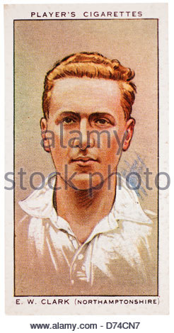 Edward Winchester 'Nobby' Clark 1902-1982 was a cricketer who played for Northamptonshire and England - Stock Photo