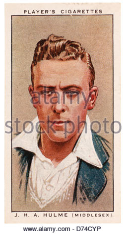 Joseph Harold Anthony 'Joe' Hulme 1904 – 1991 who played cricket for Middlesex and was an Arsenal and England footballer - Stock Photo