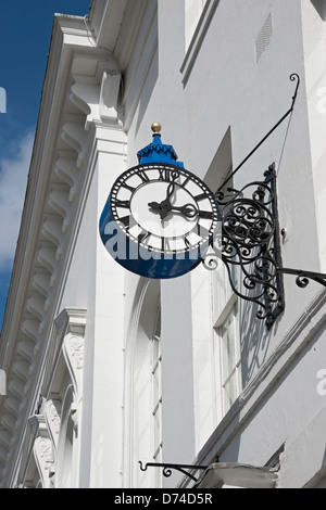 Clock on wall of the De Grey Rooms York North Yorkshire England UK United Kingdom GB Great Britain - Stock Photo