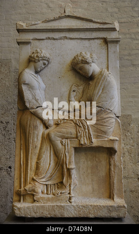 Greek Art. Classic Period. Funerary stele for Ktesilaos ... Grave Stele Of Ktesilaos And Theano