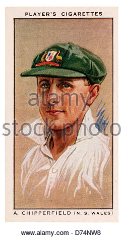Arthur Gordon Chipperfield 1905-1987  was a cricketer who played for New South Wales and Australia. EDITORIAL ONLY - Stock Photo