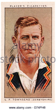 Leslie Fletcher Townsend 1903-1983 was a cricketer who played cricket for Derbyshire, England and New Zealand. EDITORIAL - Stock Photo
