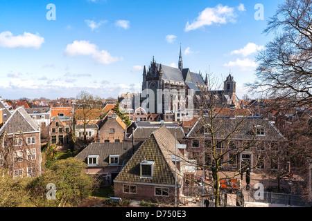 Hooglandse Kerk in Leiden, South Holland, Netherlands - Stock Photo