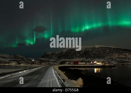 Northern Lights in Norway. - Stock Photo
