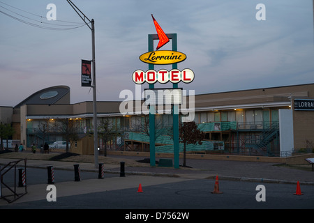 The Lorraine Motel, Memphis, USA where Dr Martin Luther King was killed.
