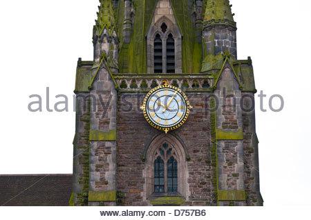 St Martin in the Bull Ring Church, Bullring Shopping Centre, Birmingham, UK - Stock Photo