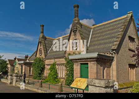 External view of Lady Waterford Hall in the village of Ford, Northumberland. - Stock Photo
