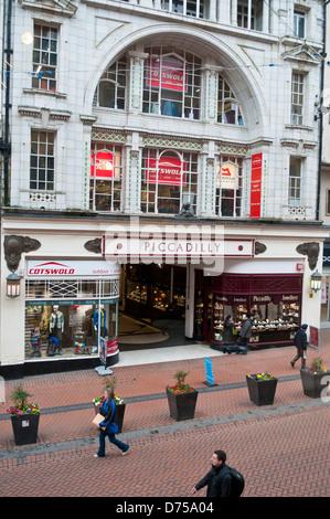 Piccadilly arcade, New Street, Birmingham, UK - Stock Photo