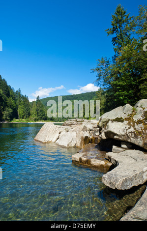 South Fork Skykomish River, Mount Baker-Snoqualmie National Forest, Washington, USA - Stock Photo