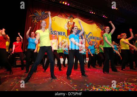 Essen, Germany, in the Ruhr carnival, dance Garden - Stock Photo