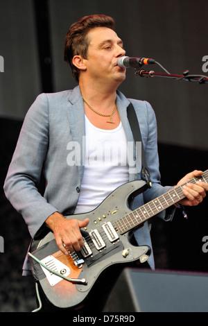 Jamie Hince of The Kills Lollapalooza Music Festival 2011 - Performances - Day 1 Chicago, Illinois - 05.08.11 - Stock Photo
