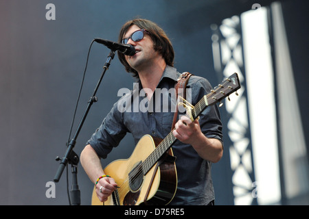 Conor Oberst of Bright Eyes Lollapalooza Music Festival 2011 - Performances - Day 1 Chicago, Illinois - 05.08.11 - Stock Photo